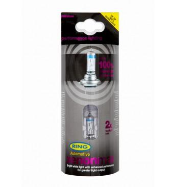 #Lemputė RING HB3 12V 60W Xenon Max +100% P20d blisteris 2vnt
