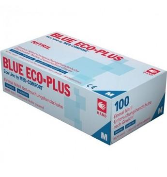 Vienkartinės nitrilo pirštinės L dyd. Eco Plius, mėlynos 100