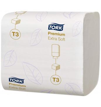 WC popierius TORK Premium T3 baltas, 2 sl., 252 lapelių