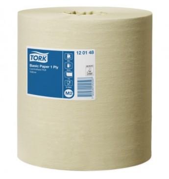 Popieriniai rankšluosčiai TORK Universal M2 gelsvas, 1sl., 300 m