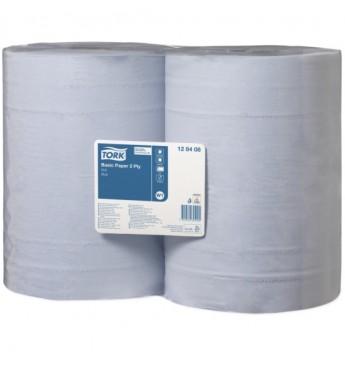 Mėlynas 2 sl. popierius platus 340m, 1000 lapelių W1