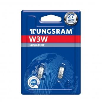 Lemputė 12V W3W W2.1x9.5d BL2vnt. TUNGSRAM 504 35452