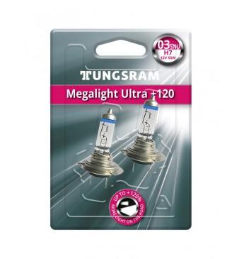 Lemputė H7 12V 55W BL2vnt. TUNGSRAM Megalight Ultra +120% 58520SNU