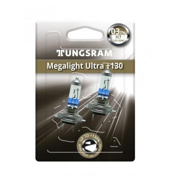 Lemputė H7 12V 55W BL2vnt. TUNGSRAM Megalight Ultra +130 58520XNU