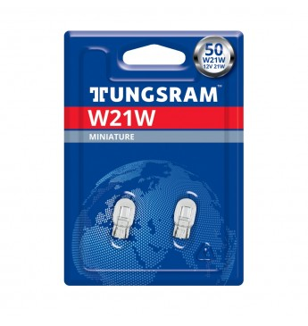 Lemputė 12V 21W W3x16d be cokolio didelė TUNGSRAM 7440