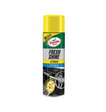 Automobilio panelės blizgiklis su oro gaivikliu CITRINOS kvapo Turtle Wax® 500ml