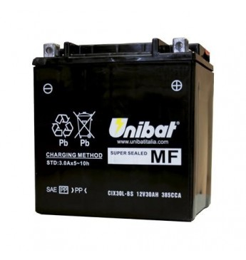 Akumuliatorius Unibat 12V 30AH 385A 166x126x175mm