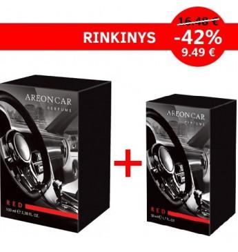 RINKINYS AUTOMOBILIUI: AREON AUTO ORO GAIVIKLIS CAR PERFUME - RED 100ML + 50 ML