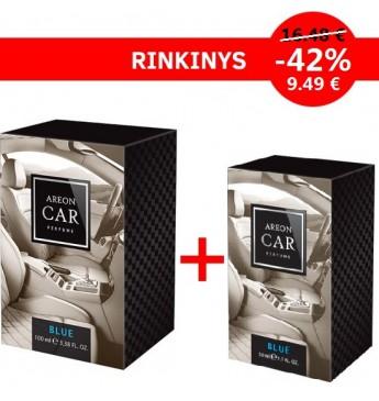RINKINYS AUTOMOBILIUI: AREON AUTO ORO GAIVIKLIS CAR PERFUME - BLUE 100ML + 50 ML